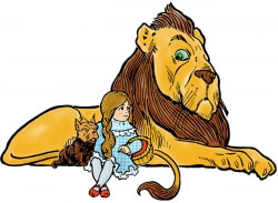 Dorothy, Lion and Toto